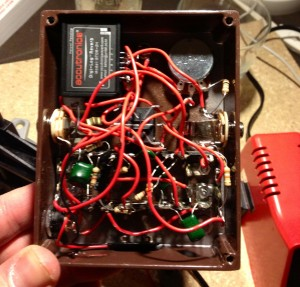 Guitar pedal spaghetti wiring