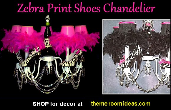 Zebra Print Shoes Chandelier zebra lighting sebra decor zebra bedroom decorating