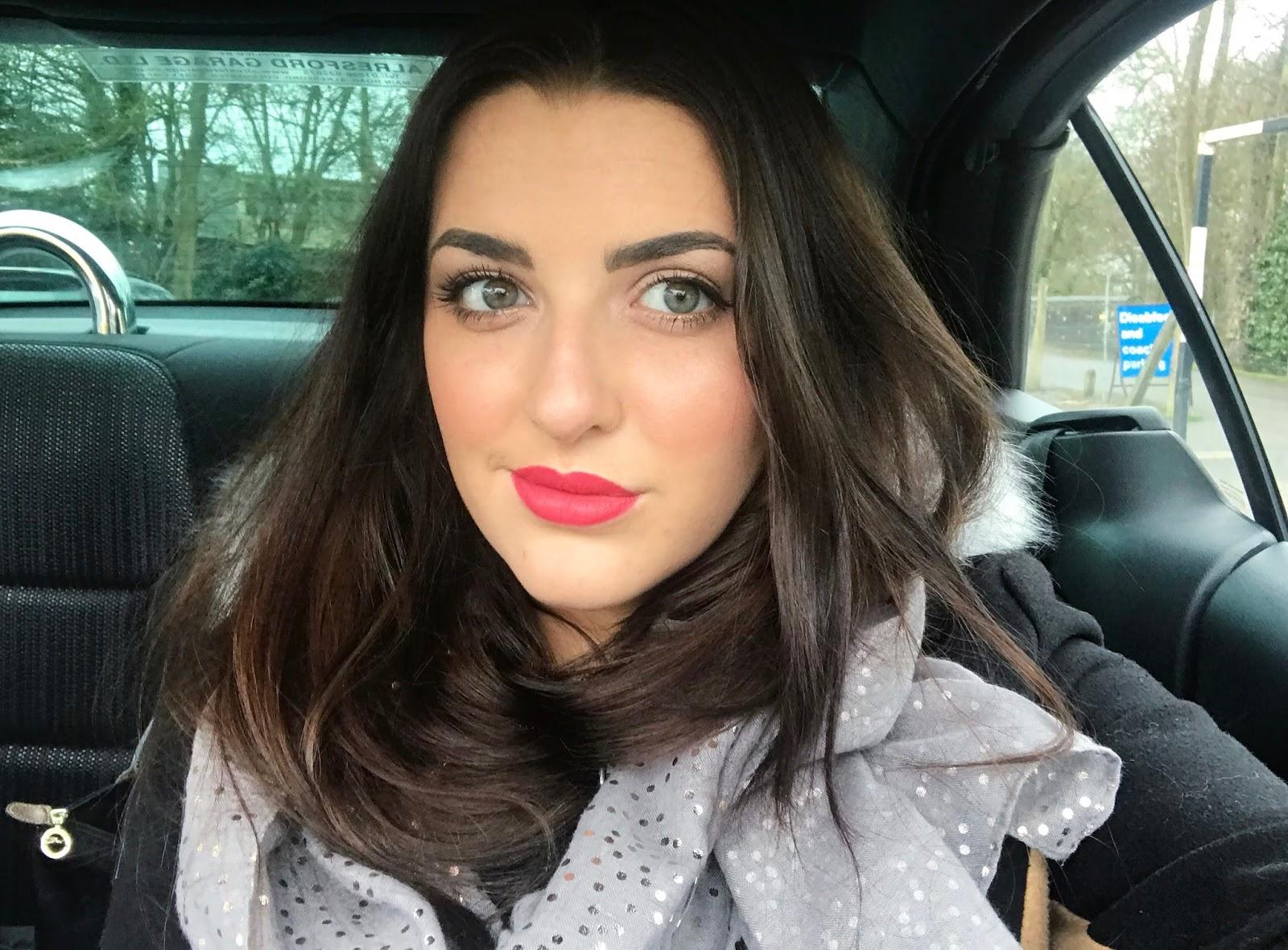 NARS Audacious Lipstick Shade Natalie & NARS lip liner Menton - Review & Swatches