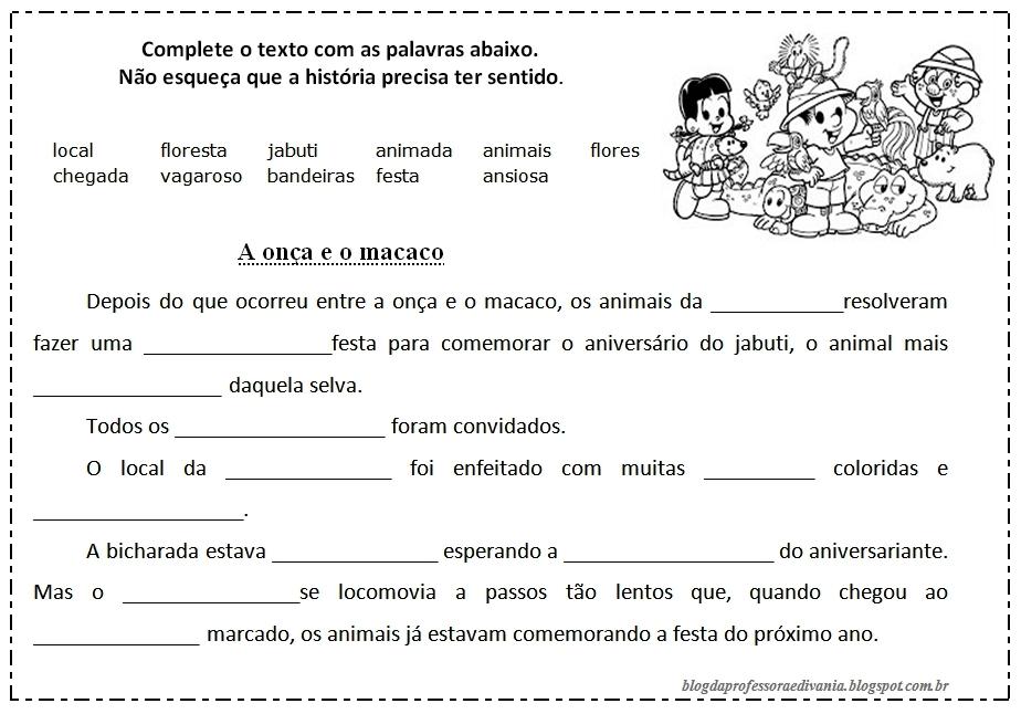 23 09 B 1 Atividades Preparatórias 2 Ofertas: Blog Da Professora Edivania: TEXTO E INTERPRETAÇÃO