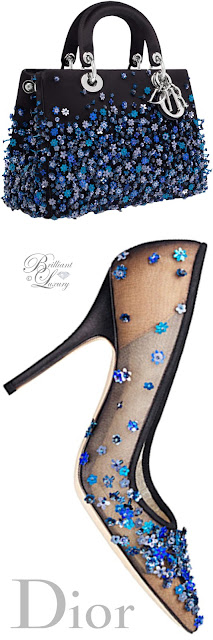 Brilliant Luxury ♦ Dior embroidered pump and Lady Dior bag