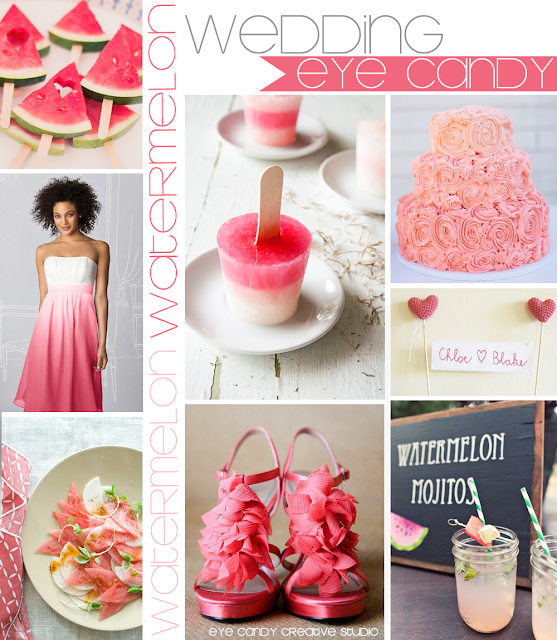 watermelon on a stick, watermelon popsicles, watermelon mojitos, watermelon salad, pink cake