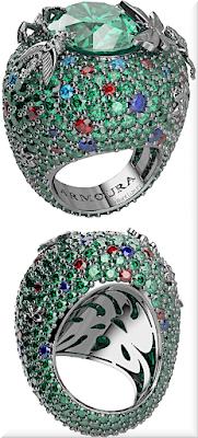 ♦Armoura Rainforest emerald ring #jewelry #armoura #brilliantluxury