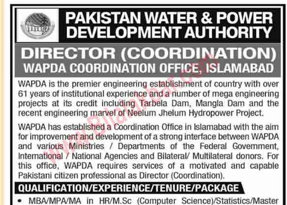 Jobs in WAPDA Last date of submission 21 Oct 2019