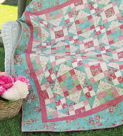Mixed Bouquet Quilt designed by Maywood Studio, Features Shadow Play and Welcome Home - Collection One by Jennifer Bosworth