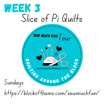 Sew Much Fun tour block 3 Slice of Pi Quilts