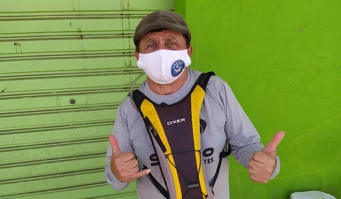 Desportista que saiu de Jacobina para São Paulo a pé sofre infarto em MG; família pede ajuda