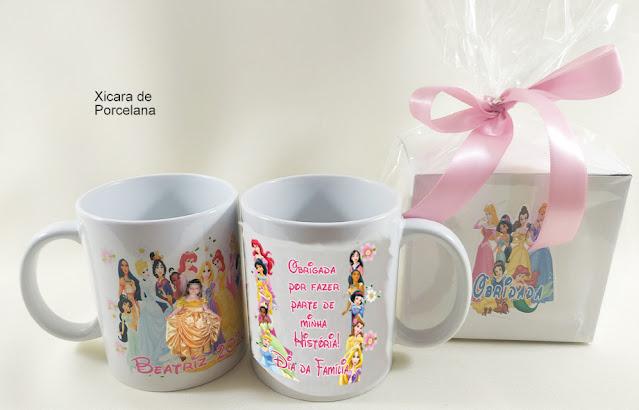 Caneca As Princesas  Disney dicas e ideias para decoração de festa personalizados