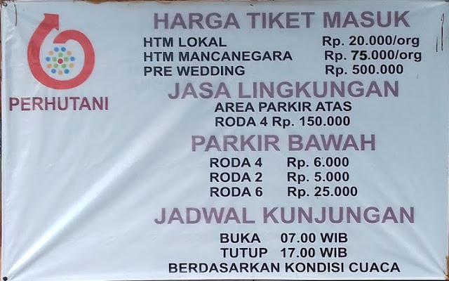 Harga Tiket Masuk Kawah Putih Ciwidey Bandung Desember 2018