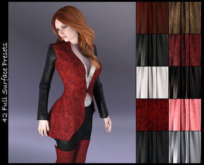 DG Iray Surface Builder - Leather Suede Velvet - Shaders and Merchant Resource