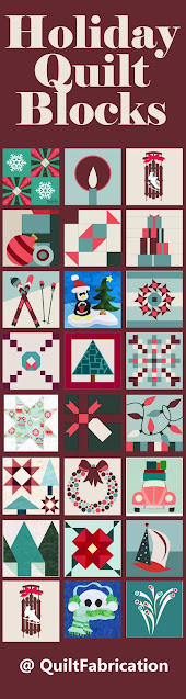 winter celebrations quilt blocks using red and teal