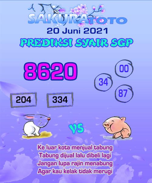 Syair Sakuratoto Singapore Minggu 20 Juni 2021