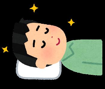 枕が合う人のイラスト(男性)
