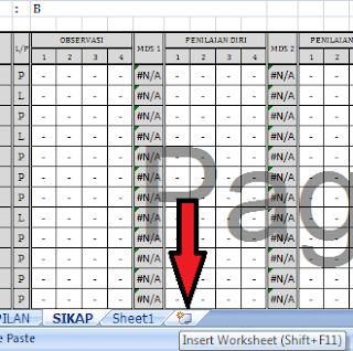Cara membuat worksheet baru pada mikrosoft excel