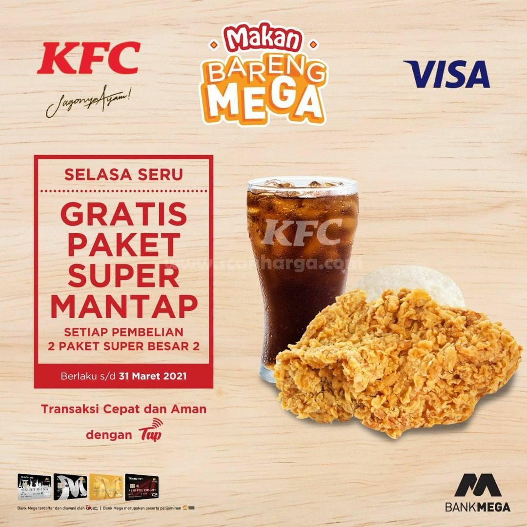 KFC VISA CONTACTLESS – Promo GRATIS Paket Super Mantap bersama Bank MEGA