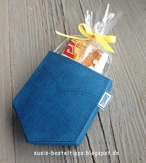kleine Geschenkverpackung mit Stempelset Tasche voller Sonnenschein von Stampin Up Demonstratorin in Coburg