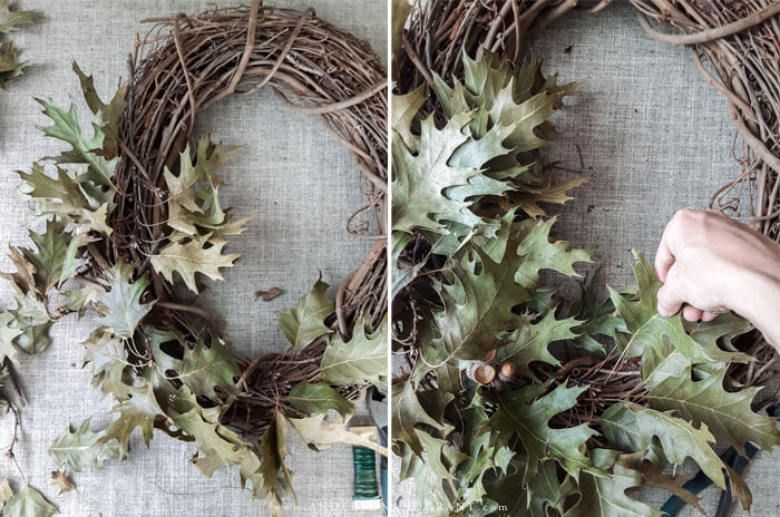 Love using nature in your fall decorating? Check out this easy tutorial for a wreath!