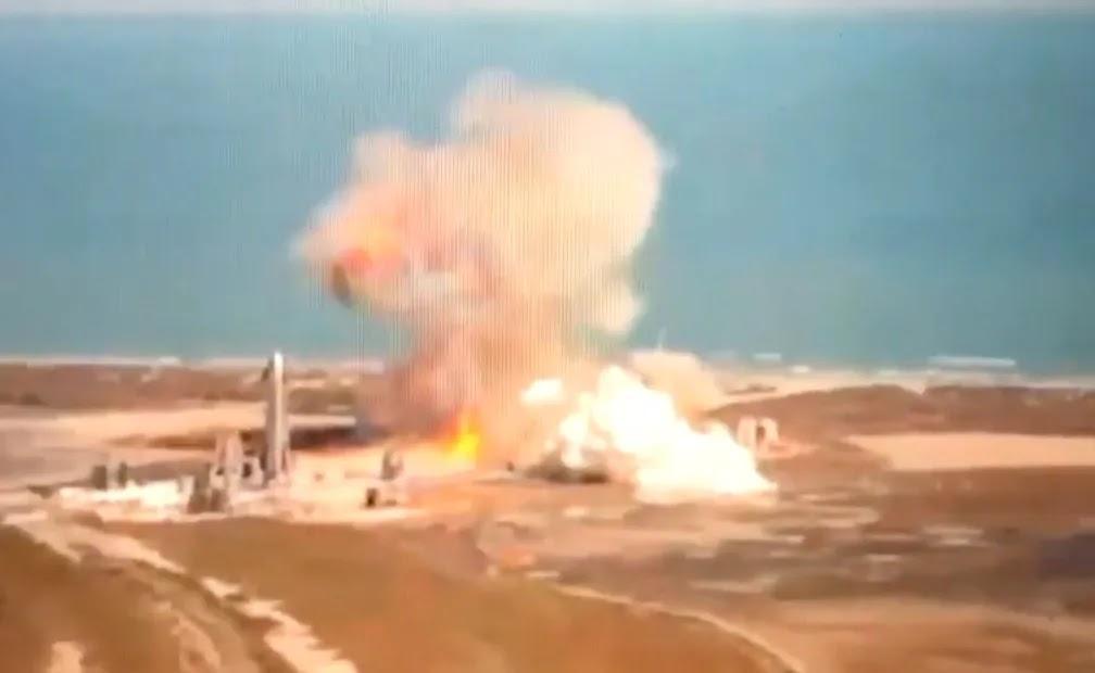 Ανατινάχθηκε διαστημόπλοιο της Space X κατά την προσγείωση (vid)