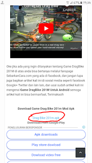 Cara Download Game Drag Bike 201m Apk