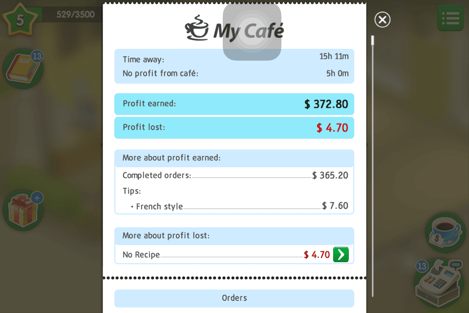 My Cafe Recipes And Stories Hints