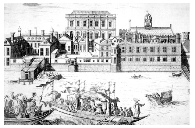 Whitehall Palace in the late 17th century