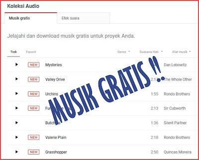 Lagu Koleksi Audio Terbaru Gratis Bebas Hak Cipta dari YouTube