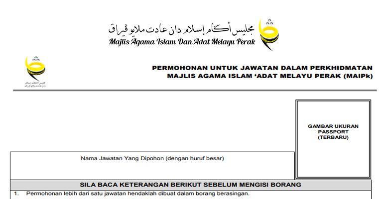 Kekosongan Terkini di Majlis Agama Islam & 'Adat Melayu Perak