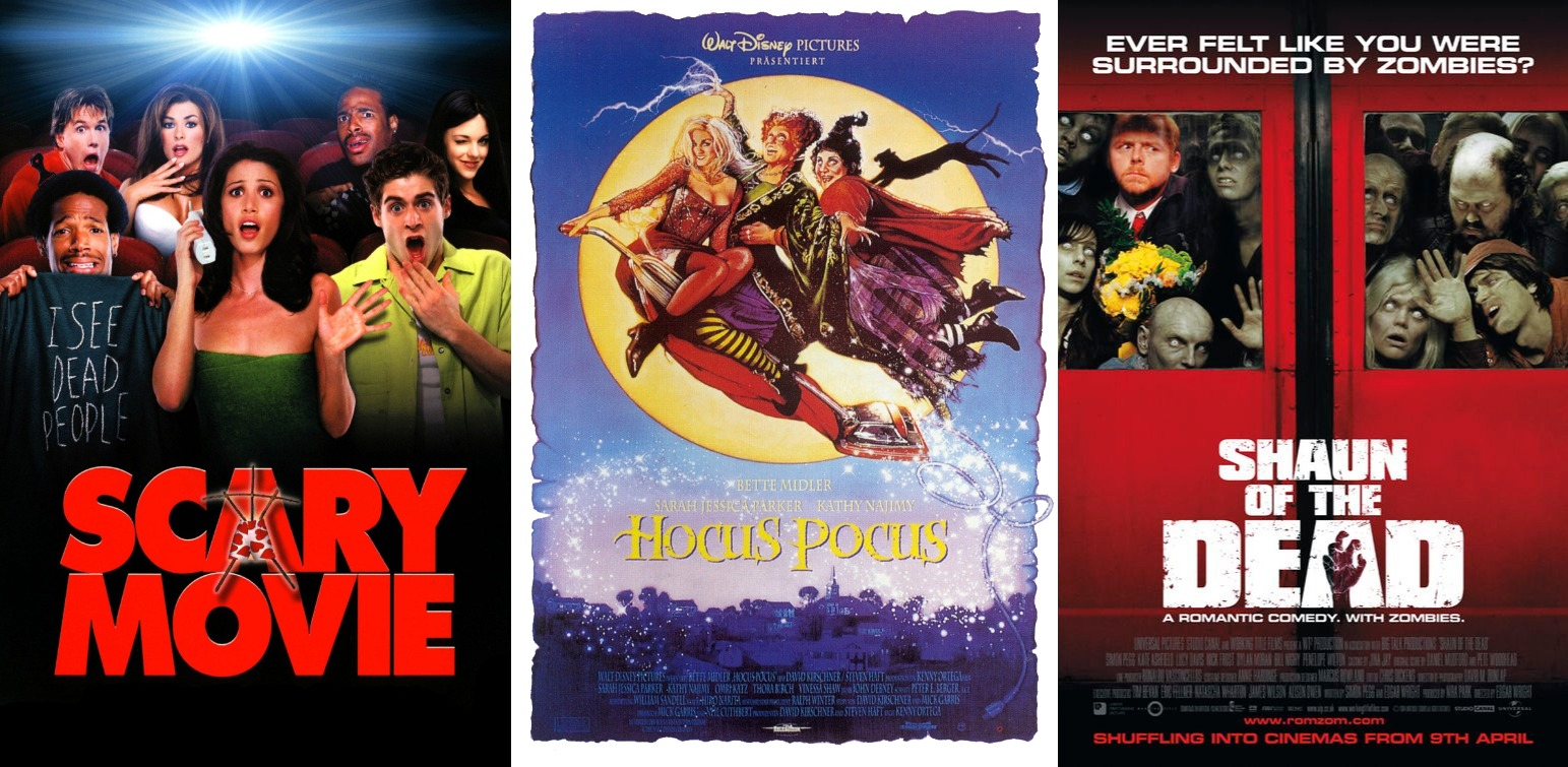 What I've Been Watching In: October (Halloween Edition) Movie Review Scary Movie Hocus Pocus Shaun of the Dead