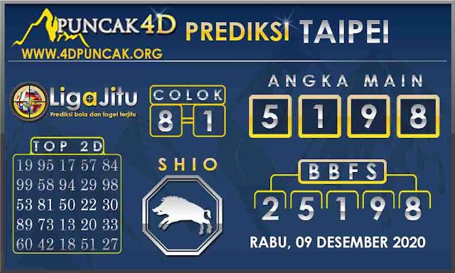 PREDIKSI TOGEL TAIPEI PUNCAK4D 09 DESEMBER 2020