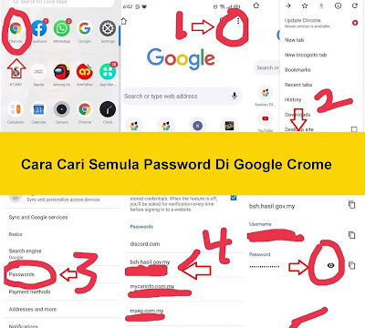 Cara Cari Semula Password Di Google Crome
