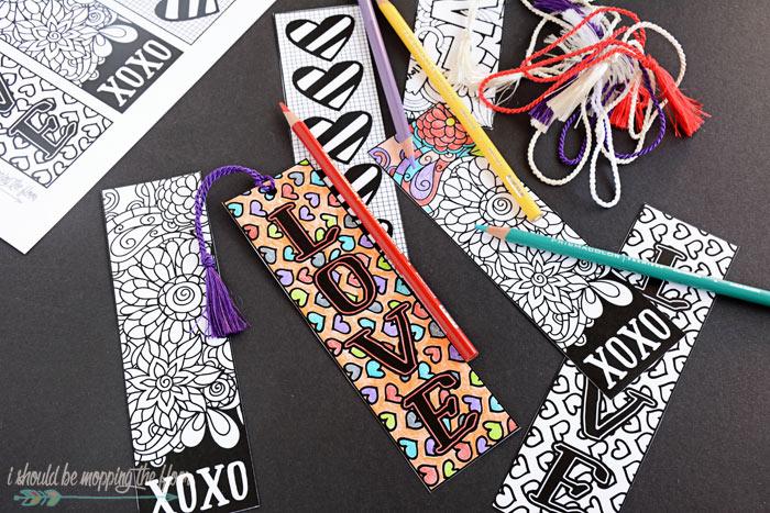Valentine's Printable Bookmarks