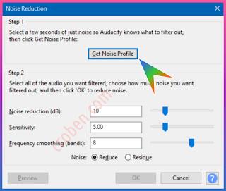 Croben.com Reduce Audio Noise Step 4