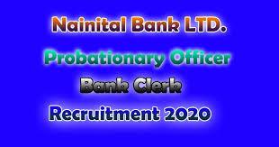 nainital bank clerk recruitment 2020,nainital bank vacancy 2020,nainital bank clerk salary,nainital bank po recruitment 2020,freejobalert