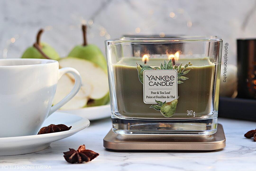 średnia świeca yankee candle pear & tea leaf