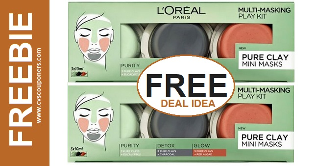 FREE L'Oreal Clay Mask Set CVS Deal 12-29-1-4