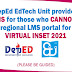 Solutions for those who cannot access the regional LMS portal for the Virtual INSET 2021