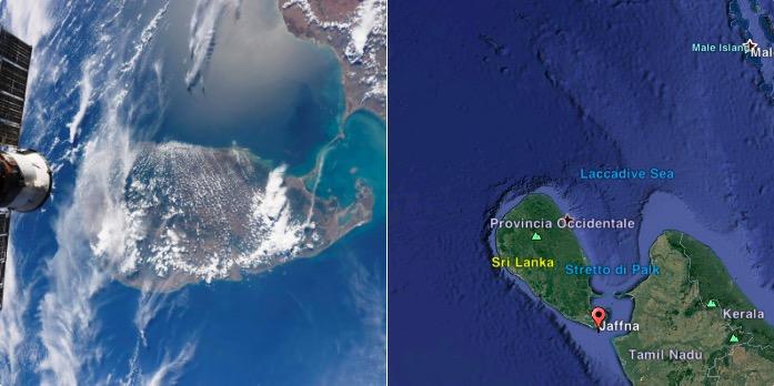 sri lanka from space,sri lanka from iss,sri lanka photos,sri lanka view from space