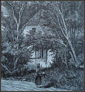 Σκίτσο όπου απεικονίζεται το σπίτι του Σοπέν στο χωριό Ζελαζοβα Βόλα