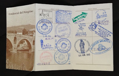 Pilgrim credencial/passport for the Camino de Santiago, Spain