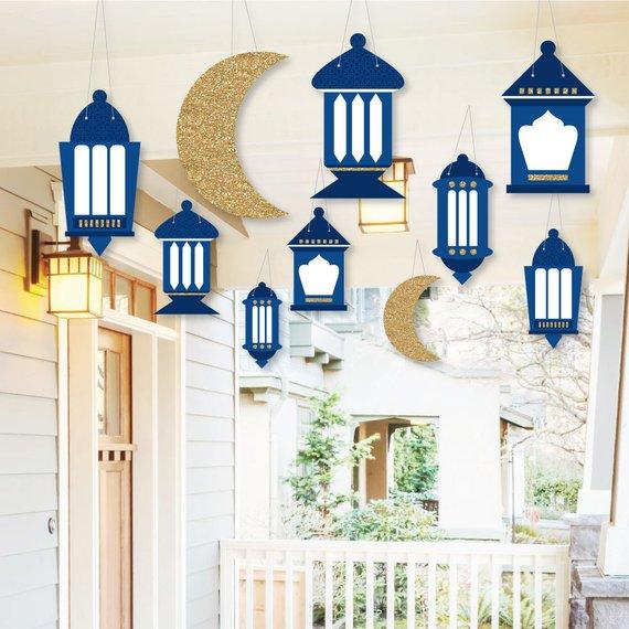 Dekorasi Ramadhan Lampu dan Bulan Sabit