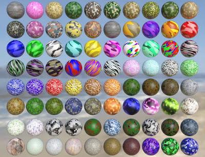 Iray Super Shaders Colorful Camouflage