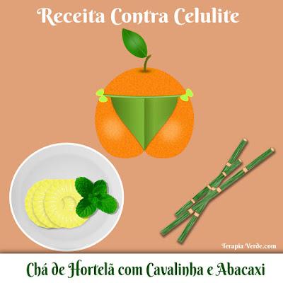 Receita Contra Celulite: Chá de Hortelã com Cavalinha e Abacaxi
