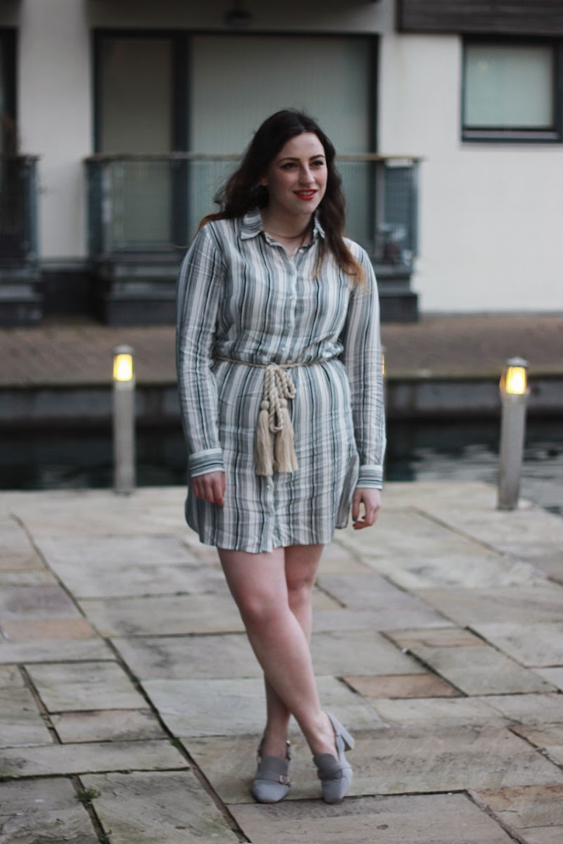 Striped shirt dress | www.itscohen.co.uk