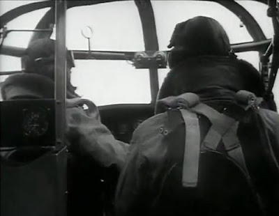 WWII Bomber cockpit interior