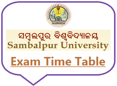 Sambalpur University +3 Exam Date 2020