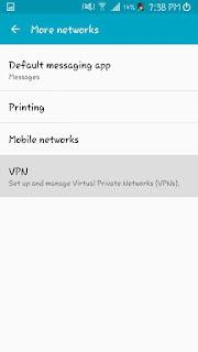 """انترنت مجاني بواسطة في بي ان """"vpn"""""""