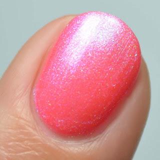 neon coral nail polish