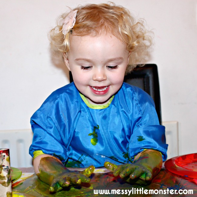 painting activity for toddlers and preschoolers