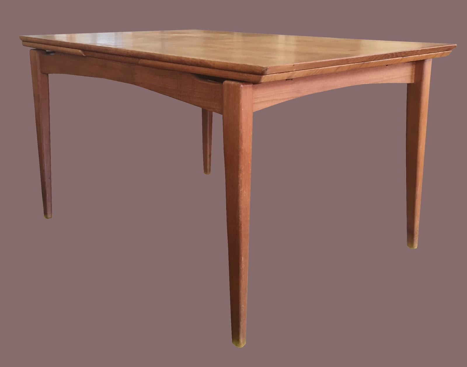 Uhuru furniture collectibles vintage teak dining table for Built in dining table
