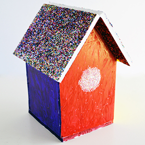 Foam Board Birdhouse